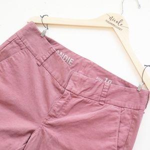 J Crew Andies Pink Skinny Mid Rise Pants